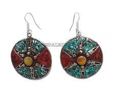 Turquoise Earring Amber Earring Gypsy Earring Coral Earring Silver Earring Gypsy