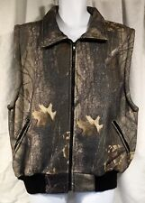 World Famous Sports 100% Cotton Fleece Camo Vest Size Large