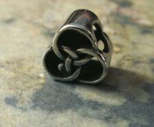 Edelstahl Bead Element Keltic Knoten Farbe Antiksilber Silber 1934