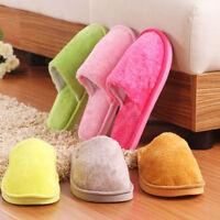 Womens Men Soft Warm Slippers Comfy Home Slipper Flat Winter Non-slip Flip Flops