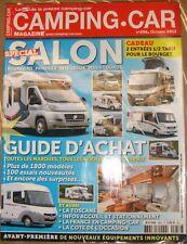 Camping Car N° 256 2013 Spécial Salon Fourgon Guide d'achat Equipement innovant