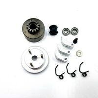 Clutch & Flywheel kit for .21 1/8 RC Nitro Buggy /Car 14T Alloy Shoes / Bearings