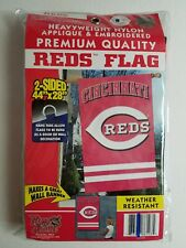 "Cincinnati Reds 2-Sided (44""X28"") Heavyweight Nylon Flag (NEW)"