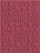 Lifestyle CRAFTS  Embossing Folder --- RETRO SQUARES