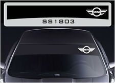 SS1803 Mini sun strip graphics stickers decals sunstrip Cooper S D