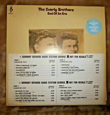 THE EVERLY BROTHERS END OF AN ERA 2LPs VINYL, BARNABY ZG 30260 1971,PROMO COPY