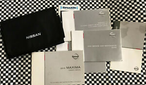 CLEAN 2014 Nissan Maxima Owners Manual w/CASE and EXTRA LITERATURE!