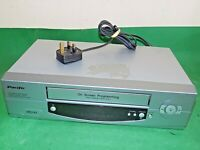 PACIFIC VCR VHS VIDEO CASSETTE RECORDER Vintage PV204 Silver Smart Fully Tested