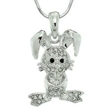 Bunny Pendant Made With Swarovski Crystal Rabbit New Jewelry Necklace Chain