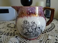 Gray's Pottery England Hand-Painted Pitcher House of 7 Gables Scene (D)
