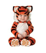 Halloween Costume Baby Tiger Small 6-12 months Animal Outfit Orange B/W Jumpsuit