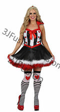 Ladies Adult Queen of Hearts costume Storybook Wonderland outfit FREE POST (AA)