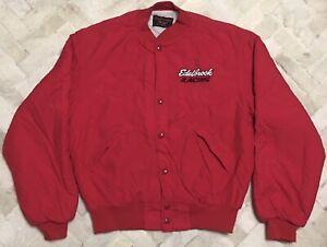 Vintage Dunbrooke EDELBROCK RACING Jacket Sz Med 40-42 Made In 🇺🇸