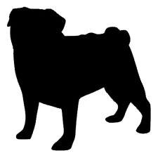 Cute Pug Dog/Animal - Wall/Laptop/Car - Vinyl Decal/Sticker - Free Post