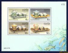 2000 THAILAND STAMP LETTER BENJARONG PORCELAIN WARE SOUVENIR SHEET S#1948a
