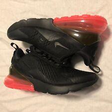 Nike Air Max 270 Black/Hot Punch Mens Size 13 NO BOX LID AH8050 010