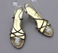Debut Debenhams Heel Sandals 4 37 Snake Effect Strapy Evening Wedding Xmas Party