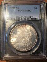 1881-CC Morgan Dollar - PCGS MS 63- High Quality Scans #8435