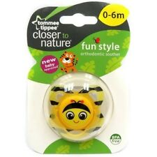 Tommee Tippee Baby Fun Closer To Nature Orthodontic Soother Pacifier BEE 0-6m