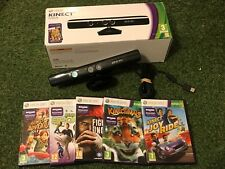 XBOX 360 KINECT CAMERA SENSOR +5 GAMES ADVENTURES JOY RIDE SPORTS KINECTIMALS +