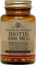 Solgar Biotin 1000mcg 100 Vegetable Capsules