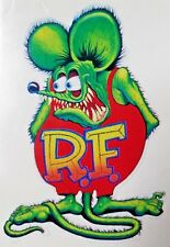 Vintage Rat Fink Vinyl Decal Sticker Chevy Ford Chrysler 4019
