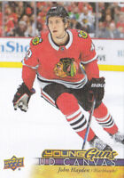 17-18 Upper Deck John Hayden UD Canvas Young Guns Rookie Blackhawks 2017