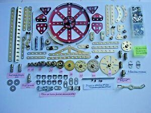 Meccano :pièces en bon état ou très bon état et anciennes.(v annonce et photo).
