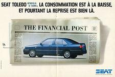 Publicité Advertising 1995  (Double page)  SEAT TOLEDO TDI