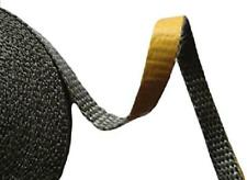 Glasband schwarz Glas Band selbstklebend Abdichten Smokern Kaminöfen Glasgewebe
