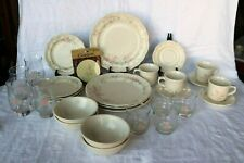 Pfaltzgraff TEA ROSE Made in U.S.A. 32 Piece Set 8 Piece Place Set Service for 4