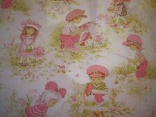 Vintage HOLLY HOBBIE / SARAH KAY /STRAWBERRY SHORTCAKE? Fabric (50cm x 50cm)