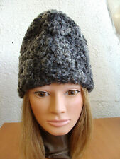 REFURBISHED NEW GRAY GREY PERSIAN LAMB FUR HAT MEN  MAN