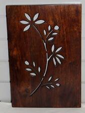 Placa De Pared De Madera Tallado Indio (B) diseño de sucursal mangowood Decoración Hecho A Mano