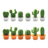 6Pcs Cute Refrigerator Magnet Cactus Potted Fridge Home Magnet Kitchen L6S9