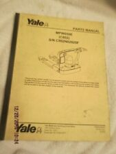 OEM Factory YALE Fork Lift Truck PARTS service MANUAL shop book MPW050E (C802)