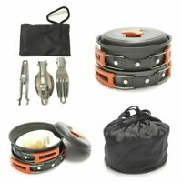 Camping Cookware Set Aluminum Cooking Bowl Pot Fry Pan Hiking Equipment 12pcs