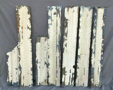 Lot of Antique Tin Ceiling Boarder Trim White Egg & Dart Architectural 1209-20B