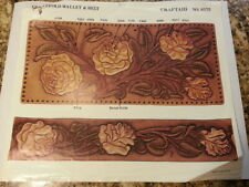 Vintage Tandy Craftaid #6572 for leather carving and tooling Roses Wallet, Belt