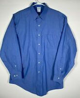 Men's Long Sleeve Shirt, Brooks Brothers, Style Regent, Size 16 1/2 4/5, Blue