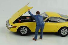 Mechaniker Werkstatt Frank under the hood Figur 1:18 American Diorama
