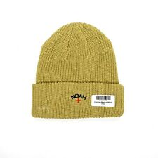 NWT Noah NY Men's Tan Core Logo Embroidered Beanie Knit Hat Cap FW19 AUTHENTIC