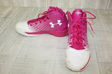 Under Armour ClutchFit Drive 3 Basketball Shoes - Men's Size 16, Pink/White