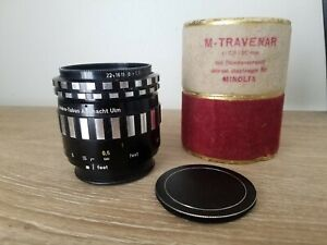A Schacht Ulm MACRO Travenar 50mm 2.8 Lens Minolta MD Excell Condition Germany