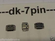 CONNETTORE 7 PIN  RICARICA PORTA jack Micro USB X SMARTPHONE E TABLET CINESI