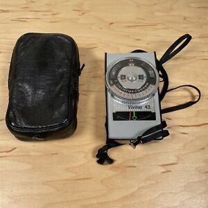 Vivitar 43 CDS Light Exposure Meter with Case