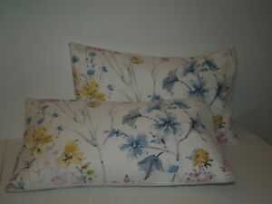 LAURA ASHLEY WILD MEADOW MULTI PAIR OF BOLSTER STYLE CUSHION COVERS