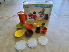 Vintage 1979 Tupperware Toys Mini Serve It Children's Serving Set in Box