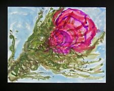 Push in to Spring by C Peterson 2014 original watercolor painting flower bloom