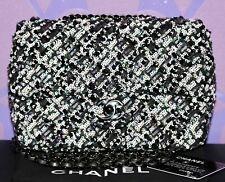 CHANEL 19S Small Quilted Multicolor Sequin Metallic Mini Flap Bag Ruthenium +Box